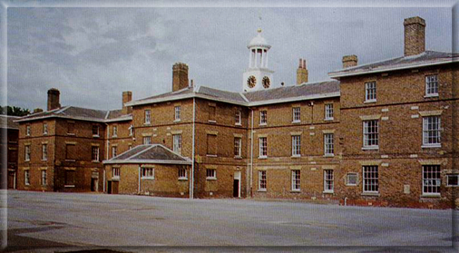 East Barracks as it was and as appeared during conversion