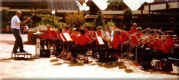 "Myself conducting the ""Shoreside Concert Band"""