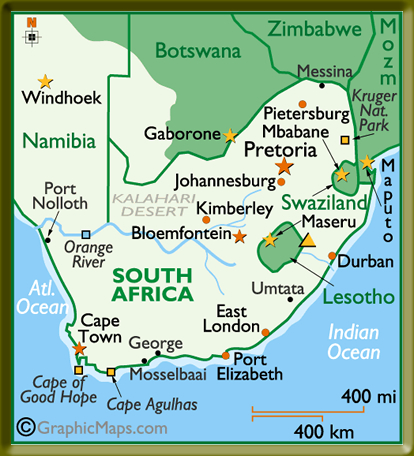 South Africa Map & Overview